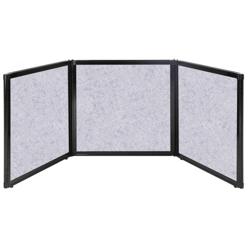 """Folding Tabletop Display 78"""" x 24"""" Marble Gray High Density Polyester"""