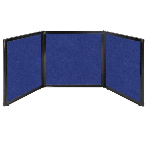 "Folding Tabletop Display 78"" x 24"" Blue High Density Polyester"
