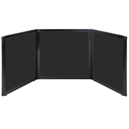 "Folding Tabletop Display 78"" x 24"" Black High Density Polyester"