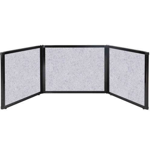 """Folding Tabletop Display 99"""" x 24"""" Marble Gray High Density Polyester"""