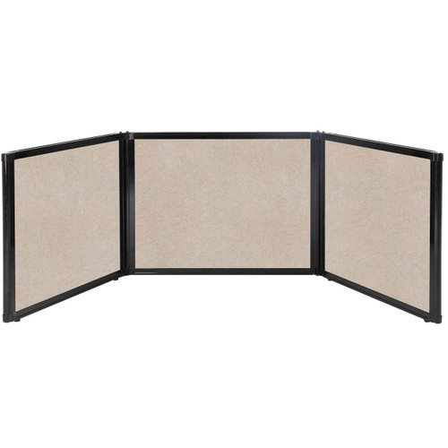 "Folding Tabletop Display 99"" x 24"" Beige High Density Polyester"