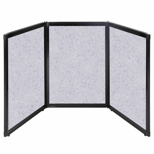 """Folding Tabletop Display 78"""" x 36"""" Marble Gray High Density Polyester"""