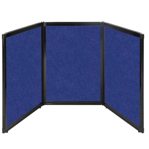 "Folding Tabletop Display 78"" x 36"" Blue High Density Polyester"