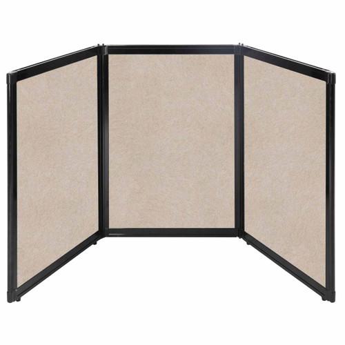 "Folding Tabletop Display 78"" x 36"" Beige High Density Polyester"