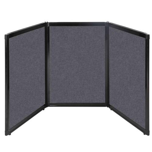 "Folding Tabletop Display 78"" x 36"" Dark Gray High Density Polyester"
