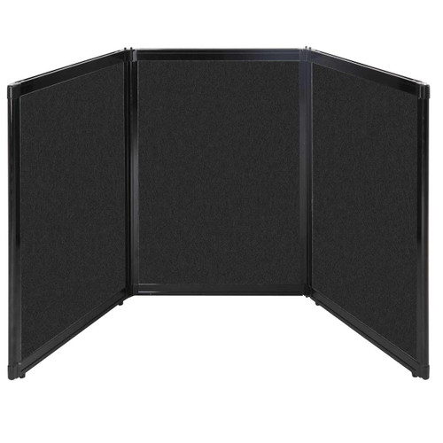 "Folding Tabletop Display 78"" x 36"" Black High Density Polyester"