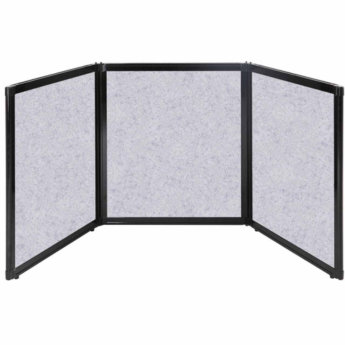 """Folding Tabletop Display 99"""" x 36"""" Marble Gray High Density Polyester"""