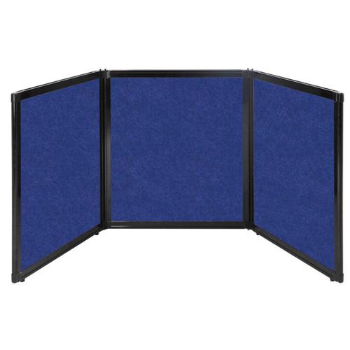 "Folding Tabletop Display 99"" x 36"" Blue High Density Polyester"