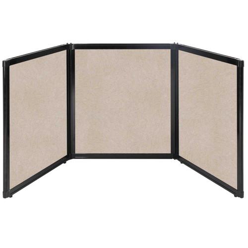 "Folding Tabletop Display 99"" x 36"" Beige High Density Polyester"