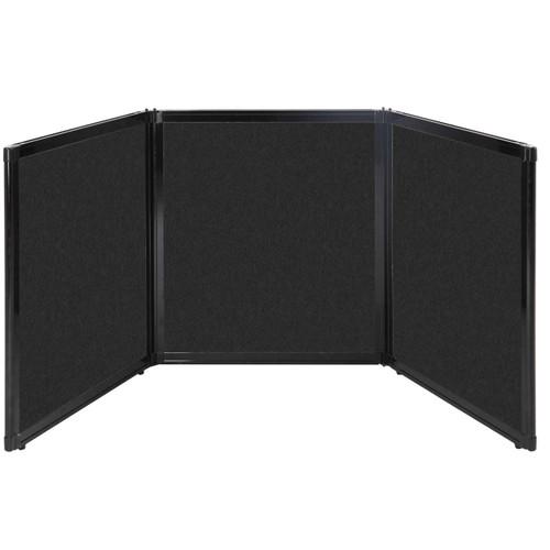 "Folding Tabletop Display 99"" x 36"" Black High Density Polyester"