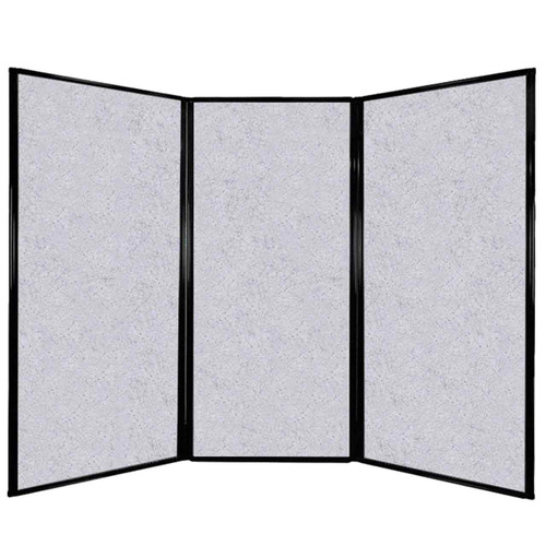 "Privacy Screen 7'6"" x 5'10"" Marble Gray High Density Polyester"