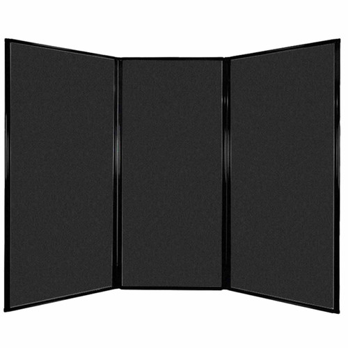 "Privacy Screen 7'6"" x 5'10"" Black High Density Polyester"