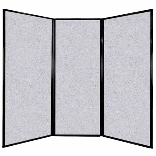 """Privacy Screen 7'6"""" x 6'8"""" Marble Gray High Density Polyester"""