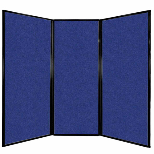 """Privacy Screen 7'6"""" x 6'8"""" Blue High Density Polyester"""
