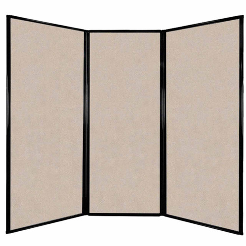 "Privacy Screen 7'6"" x 6'8"" Beige High Density Polyester"