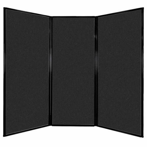 "Privacy Screen 7'6"" x 6'8"" Black High Density Polyester"