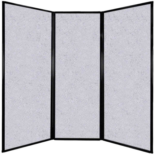 "Privacy Screen 7'6"" x 7'4"" Marble Gray High Density Polyester"