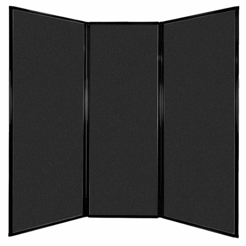 "Privacy Screen 7'6"" x 7'4"" Black High Density Polyester"