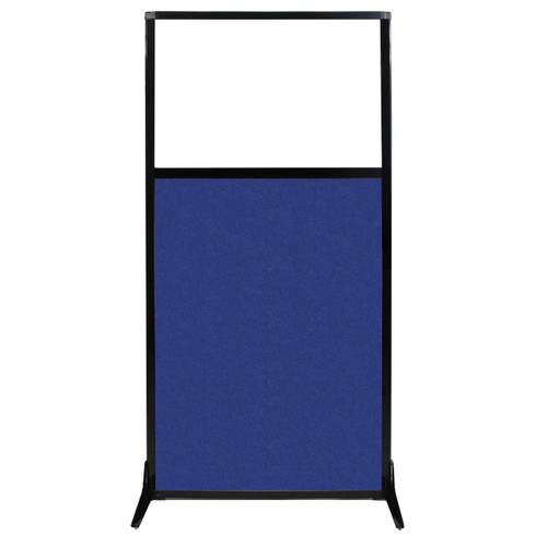 """Work Station Screen 33"""" x 70"""" Blue High Density Polyester With Clear Window"""