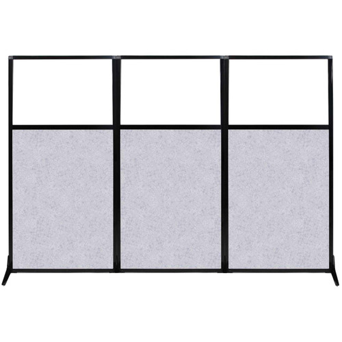 "Work Station Screen 99"" x 70"" Marble Gray High Density Polyester With Clear Window"