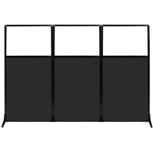 """Work Station Screen 99"""" x 70"""" Black High Density Polyester With Clear Window"""