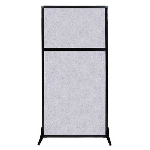 "Work Station Screen 33"" x 70"" Marble Gray High Density Polyester"