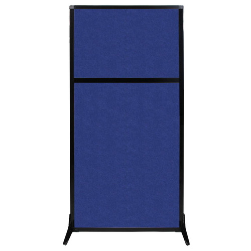 "Work Station Screen 33"" x 70"" Blue High Density Polyester"