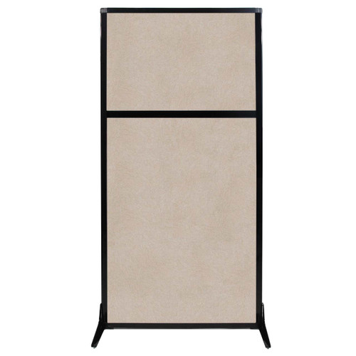 "Work Station Screen 33"" x 70"" Beige High Density Polyester"