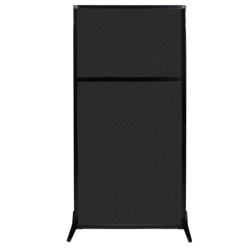 "Work Station Screen 33"" x 70"" Black High Density Polyester"