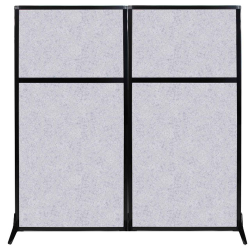 """Work Station Screen 66"""" x 70"""" Marble Gray High Density Polyester"""
