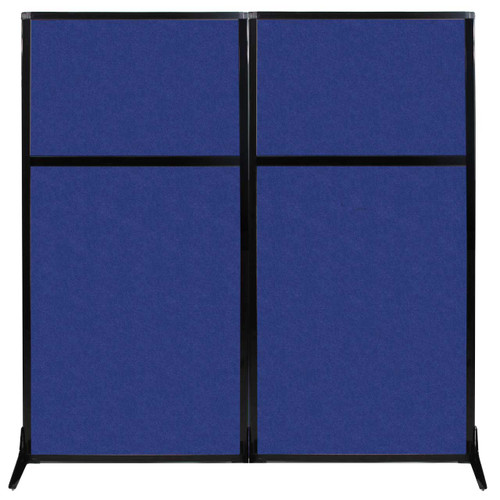 "Work Station Screen 66"" x 70"" Blue High Density Polyester"