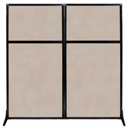 "Work Station Screen 66"" x 70"" Beige High Density Polyester"