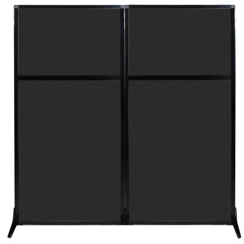 "Work Station Screen 66"" x 70"" Black High Density Polyester"