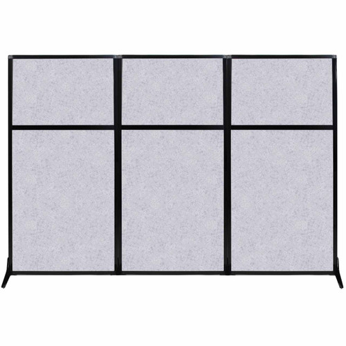 """Work Station Screen 99"""" x 70"""" Marble Gray High Density Polyester"""