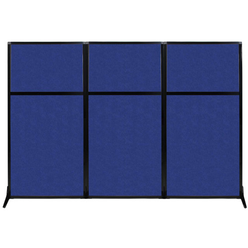 "Work Station Screen 99"" x 70"" Blue High Density Polyester"