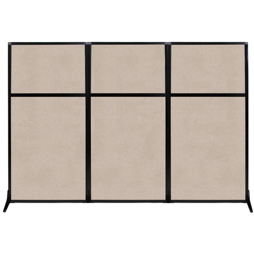 "Work Station Screen 99"" x 70"" Beige High Density Polyester"