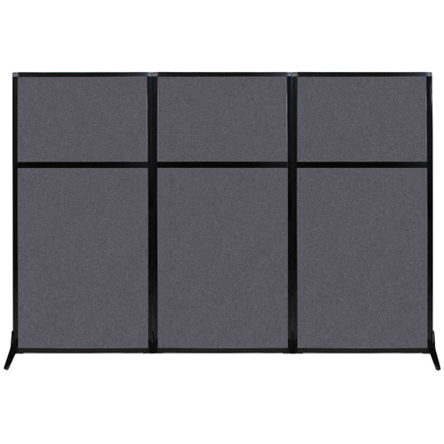 "Work Station Screen 99"" x 70"" Dark Gray High Density Polyester"