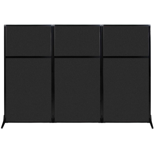 "Work Station Screen 99"" x 70"" Black High Density Polyester"
