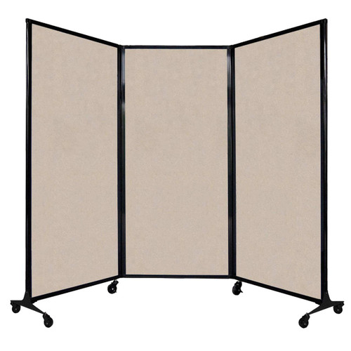 """QuickWall Folding Portable Partition 8'4"""" x 5'10"""" Beige High Density Polyester"""