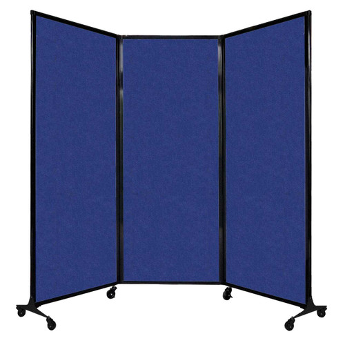 """QuickWall Folding Portable Partition 8'4"""" x 6'8"""" Blue High Density Polyester"""