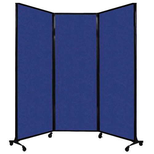 """QuickWall Folding Portable Partition 8'4"""" x 7'4"""" Blue High Density Polyester"""
