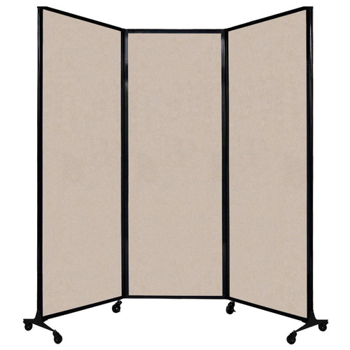 """QuickWall Folding Portable Partition 8'4"""" x 7'4"""" Beige High Density Polyester"""