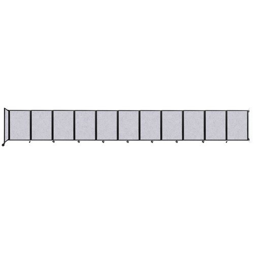 """Wall-Mounted Room Divider 360 Folding Partition 30'6"""" x 4' Marble Gray High Density Polyester"""