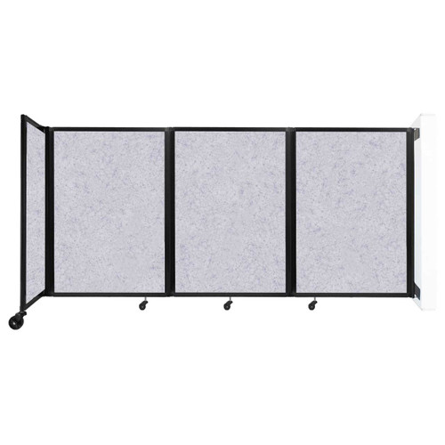 """Wall-Mounted Room Divider 360 Folding Partition 8'6"""" x 4' Marble Gray High Density Polyester"""