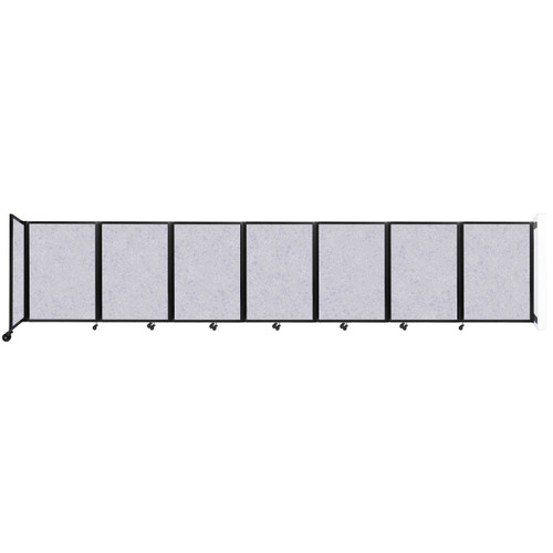 """Wall-Mounted Room Divider 360 Folding Partition 19'6"""" x 4' Marble Gray High Density Polyester"""