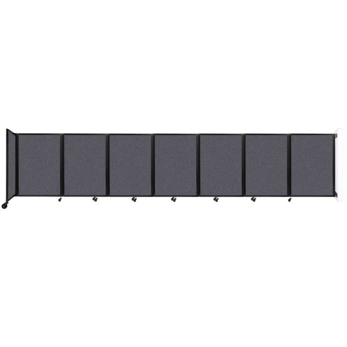 """Wall-Mounted Room Divider 360 Folding Partition 19'6"""" x 4' Dark Gray High Density Polyester"""