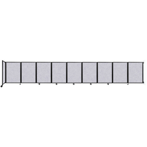 Wall-Mounted Room Divider 360 Folding Partition 25' x 4' Marble Gray High Density Polyester