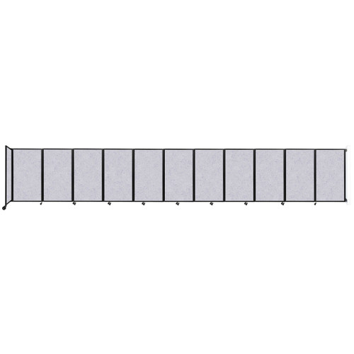 """Wall-Mounted Room Divider 360 Folding Partition 30'6"""" x 5' Marble Gray High Density Polyester"""