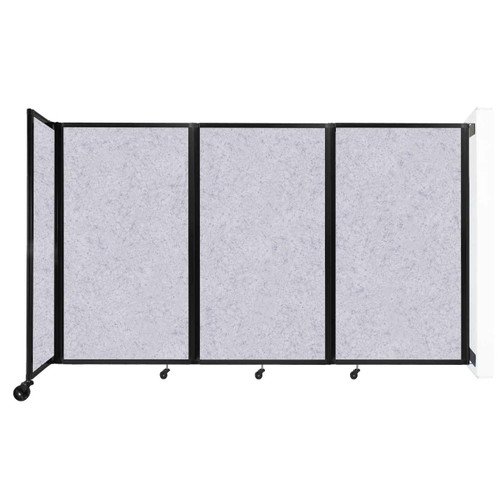 """Wall-Mounted Room Divider 360 Folding Partition 8'6"""" x 5' Marble Gray High Density Polyester"""