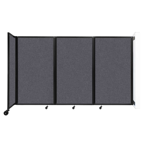 """Wall-Mounted Room Divider 360 Folding Partition 8'6"""" x 5' Dark Gray High Density Polyester"""